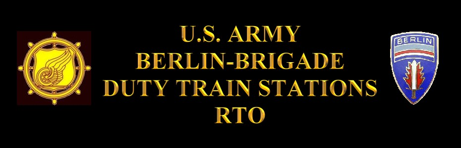 UNITED STATES ARMY TRANSPORTATION CORPS DUTY TRAIN STATIONS (RTO)